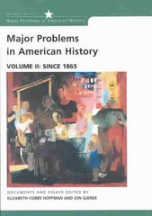 Major Problems in American History 1st edition 9780618061341 0618061347