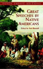 Great Speeches by Native Americans 0 9780486411224 0486411222