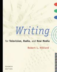 Writing for Television, Radio, and New Media 7th Edition 9780534561246 0534561241
