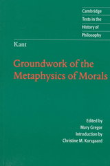 Groundwork of the Metaphysics of Morals 0 9780521626958 0521626951