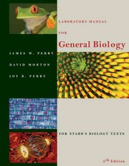 Laboratory Manual for General Biology 5th edition 9780534380250 0534380255