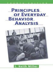 Principles of Everyday Behavior Analysis (with Printed Access Card) 4th edition 9780534599942 053459994X