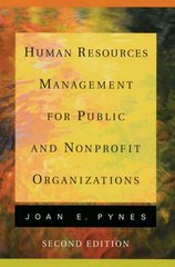 Human Resources Management for Public and Nonprofit Organizations 2nd Edition 9780787970789 0787970786