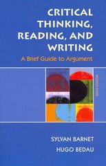 Critical Thinking, Reading, and Writing 6th edition 9780312459871 0312459874