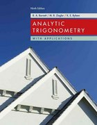 Analytic Trigonometry with Applications 9th edition 9780471746553 047174655X