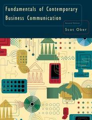 Fundamentals of Contemporary Business Communication 2nd Edition 9780618645176 0618645179
