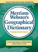 Merriam-Webster's Geographical Dictionary 3rd edition 9780877795469 0877795460