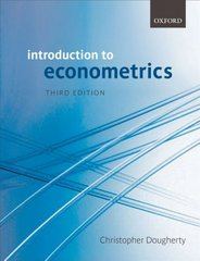 Introduction to Econometrics 3rd Edition 9780199280964 0199280967