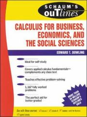 Schaum's Outline of Calculus for Business, Economics, and The Social Sciences 1st edition 9780070176737 0070176736