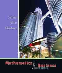 Mathematics for Business 8th Edition 9780321357434 0321357434