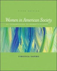 Women in American Society 5th Edition 9780767416399 0767416392
