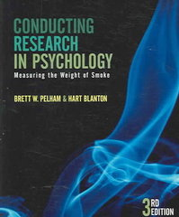 Conducting Research in Psychology 3rd edition 9780534532949 0534532942