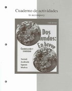 Workbook/Laboratory Manual Dos Mundos: En breve 3rd edition 9780073212562 0073212563