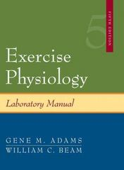 Exercise Physiology Laboratory Manual 5th edition 9780072972931 0072972939
