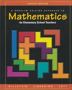 A Problem Solving Approach to Mathematics for Elementary School Teachers 8th edition 9780321156808 0321156803