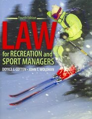 Law for Recreation and Sport Managers 4th edition 9780757530456 0757530451