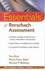 Essentials of Rorschach Assessment 1st Edition 9780471331469 0471331465