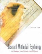 Research Methods in Psychology 6th Edition 9780072494464 0072494468