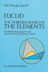 The Thirteen Books of the Elements 2nd Edition 9780486600888 0486600882