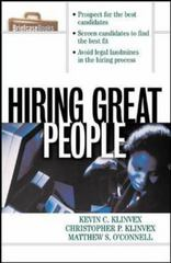 Hiring Great People 1st Edition 9780070718722 0070718725