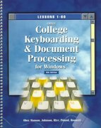 Gregg College Keyboarding and Document Processing for Windows 8th edition 9780028031613 002803161X
