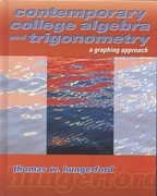 Contemporary College Algebra and Trigonometry 0 9780030299889 0030299888