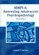 MMPI-A: Assessing Adolescent Psychopathology 3rd Edition 9780805851878 0805851879