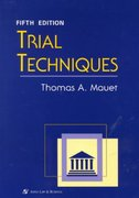 Trial Techniques 5th Edition 9780735506350 0735506353