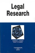 Legal Research in a Nutshell 9th Edition 9780314180070 0314180079
