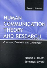 Human Communication Theory and Research 2nd Edition 9780805830088 0805830081