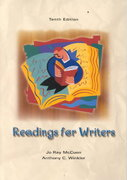 Readings for Writers 10th edition 9780155074804 0155074806