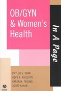 In A Page OB/GYN & Women's Health 1st edition 9781405103800 1405103809