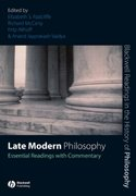 Late Modern Philosophy 1st Edition 9781405146890 1405146893