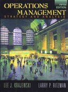 Operations Management 5th Edition 9780201331189 0201331187