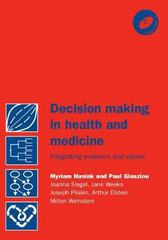 Decision Making in Health and Medicine 0 9780521770293 0521770297