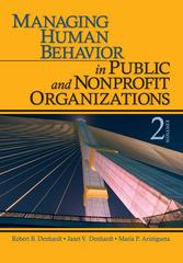 Managing Human Behavior in Public and Nonprofit Organizations 2nd Edition 9781412956673 1412956676