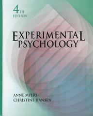 Experimental Psychology 4th edition 9780534339791 0534339794