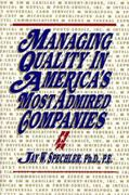 Managing Quality in America's Most Admired Companies 0 9780898061185 0898061180