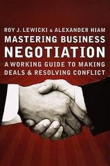 Mastering Business Negotiation 1st edition 9780470902516 0470902515