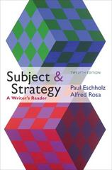 Subject and Strategy 12th Edition 9780312612733 0312612737