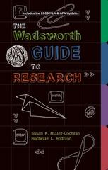 Wadsworth Guide to Research, Documentation Update Edition 1st Edition 9781111345488 1111345481