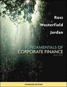 Loose-leaf Fundamentals of Corporate Finance Standard Edition 9th edition 9780077342449 0077342445