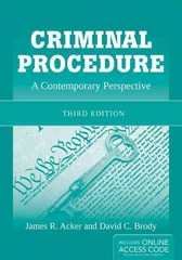 Criminal Procedure: A Contemporary Perspective 3rd Edition 9780763795214 0763795216