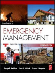 Introduction to Emergency Management 4th Edition 9781856179591 1856179591