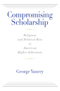 Compromising Scholarship 0 9781602582682 1602582688