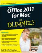 Office 2011 for Mac For Dummies 1st Edition 9780470878699 047087869X