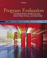 Program Evaluation 4th Edition 9780205579358 0205579353
