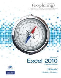 Student CD for Exploring Microsoft Office Excel 2010 Comprehensive 1st Edition 9780135098622 0135098629