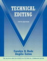 Technical Editing 5th Edition 9780205786718 0205786715