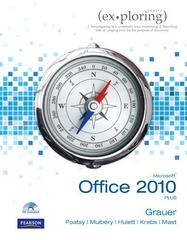 Exploring Microsoft Office 2010 Plus 1st Edition 9780135091494 0135091497